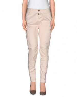 Повседневные брюки RISSKIO. Цвет: бежевый