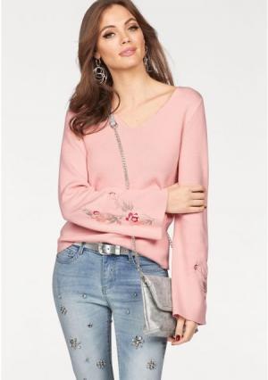 Пуловер MELROSE. Цвет: розовый