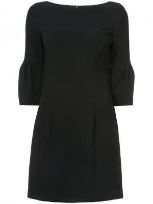 Платье мини с объемными рукавами Black Halo. Цвет: чёрный