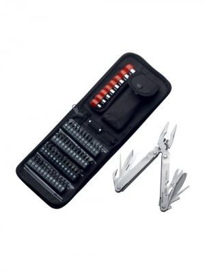 Мультитул 9 инструментов, набор насадок Stinger. Цвет: серебристый