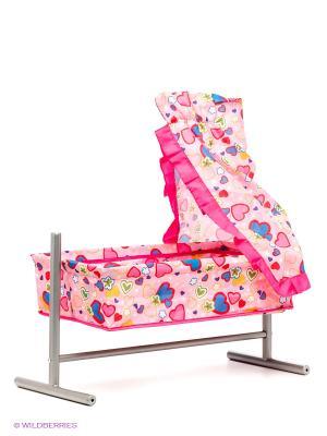 Кроватка-качалка Mami. Цвет: розовый, бледно-розовый, желтый, красный, синий