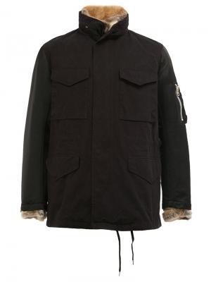 Куртка с карманами 08Sircus. Цвет: чёрный