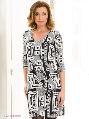 Платье Capriz. Цвет: белый, черный