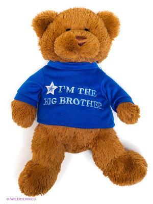 Игрушка мягкая Big brother Gund. Цвет: коричневый, синий