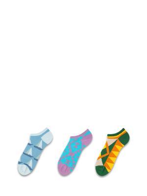 Носки 3 пары Sammy Icon. Цвет: синий, зеленый, желтый