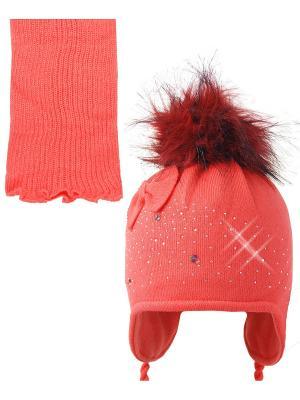 Шапка; шарф Ambra. Цвет: оранжевый