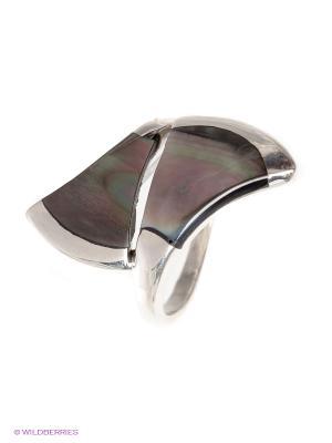 Кольцо BALEX. Цвет: серебристый, серо-зеленый