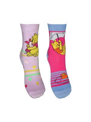 Носки 2 пары Master Socks. Цвет: сиреневый, фуксия