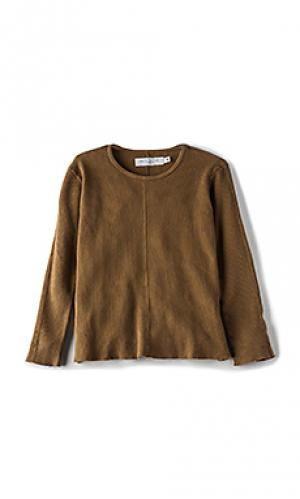Теплый пуловер с длинным рукавом и круглым вырезом Daniel Patrick. Цвет: коричневый