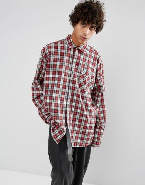 Dead Vintage Рубашка в клетку James. Цвет: бежевый