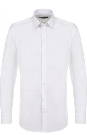 Хлопковая сорочка с воротником кент Dolce & Gabbana. Цвет: белый