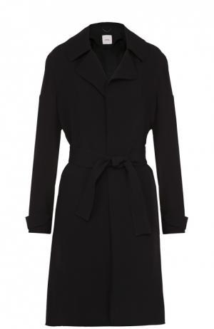 Пальто с поясом и широкими лацканами Dorothee Schumacher. Цвет: черный