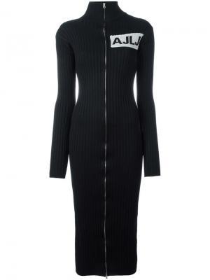Платье с высокой горловиной на молнии Au Jour Le. Цвет: чёрный