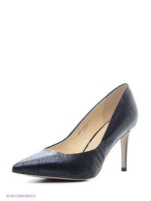 Туфли EMILIA ESTRA. Цвет: черный, синий