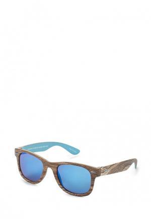 Очки солнцезащитные Gap. Цвет: коричневый