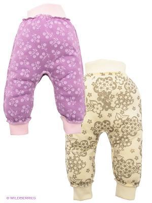 Ползунки, 2 шт. Lucky Child. Цвет: сиреневый, темно-бежевый, молочный, бледно-розовый