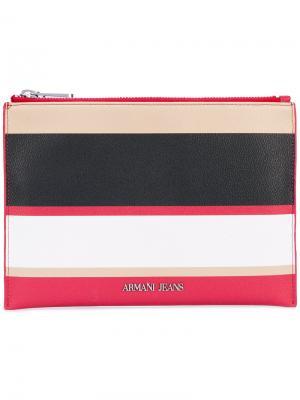 Кошелек в полоску Armani Jeans. Цвет: розовый и фиолетовый