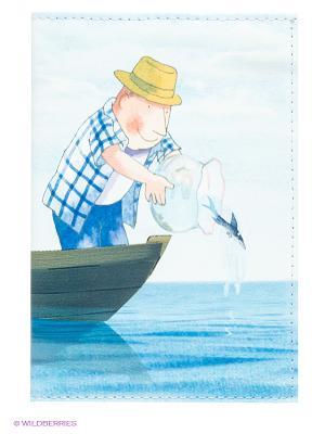Обложка для паспорта Mitya Veselkov. Цвет: голубой, синий, зеленый