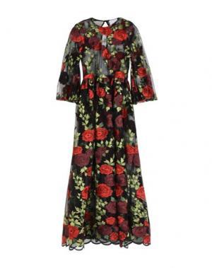 Длинное платье GEORGE J. LOVE. Цвет: кирпично-красный