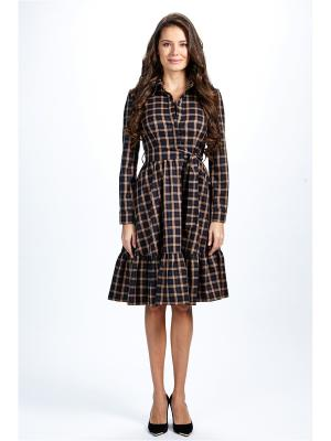 Платье-рубашка с оборкой Self Made