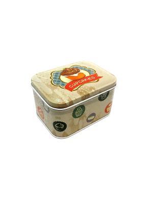 Коробка для безделушек и мелочей Сладкие капкейки Magic Home. Цвет: белый