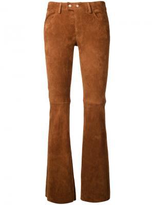 Прямые брюки Sylvie Schimmel. Цвет: коричневый