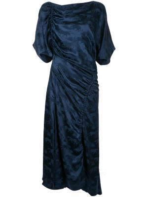 Платье Panther с деталями со сборкой Bianca Spender. Цвет: синий
