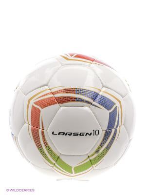 Мяч футбольный 10 Larsen. Цвет: белый, зеленый, золотистый, красный