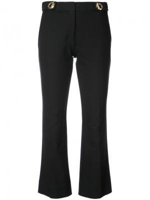 Укороченные расклешенные брюки Derek Lam 10 Crosby. Цвет: чёрный