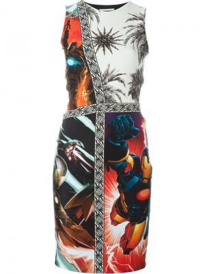 Платье с комбинированным принтом Fausto Puglisi. Цвет: многоцветный
