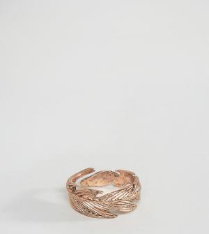 Icon Brand Кольцо цвета розового золота в виде пера эксклюзивно для AS. Цвет: золотой