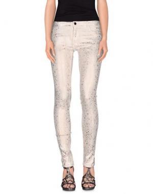 Джинсовые брюки 75 FAUBOURG. Цвет: бежевый