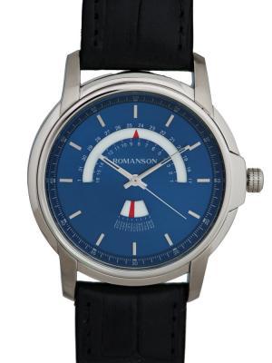 Часы TL6A21CM Romanson. Цвет: черный, серебристый, темно-синий