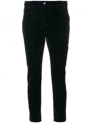 Бархатные фактурные брюки Dorothee Schumacher. Цвет: синий