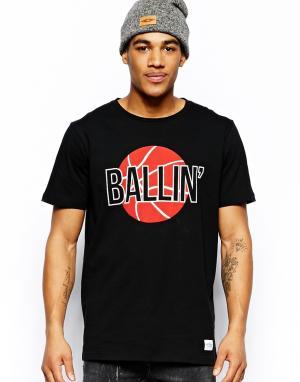 A Question Of Футболка с принтом Ballin. Цвет: черный