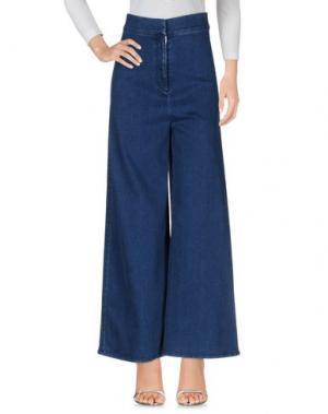 Джинсовые брюки SARA BATTAGLIA. Цвет: синий