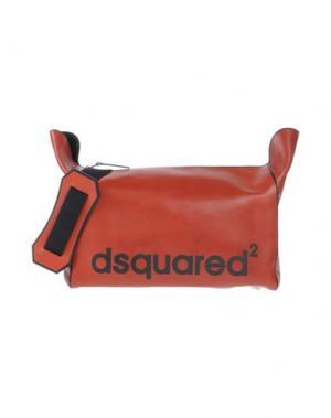 Сумка через плечо DSQUARED2. Цвет: кирпично-красный