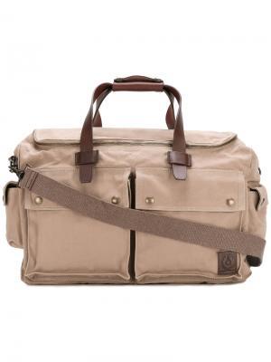 Дорожная сумка с карманами Belstaff. Цвет: телесный