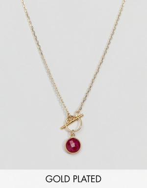 Dogeared Позолоченное ожерелье Because Shes Fiery. Цвет: золотой