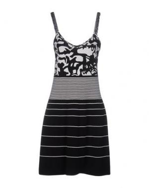 Платье до колена MARC CAIN. Цвет: черный