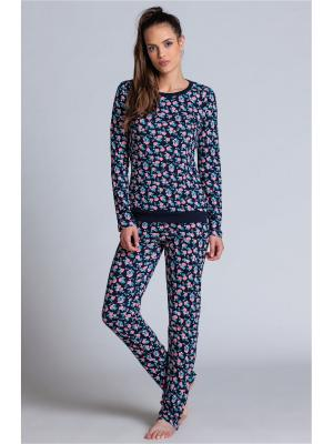 Пижама Jasmil. Цвет: темно-синий, розовый