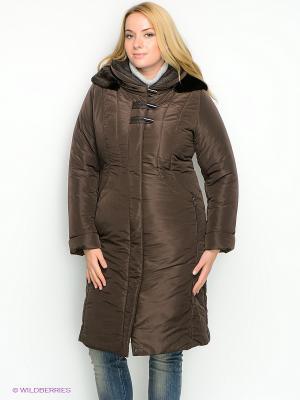 Пальто D`imma. Цвет: темно-коричневый