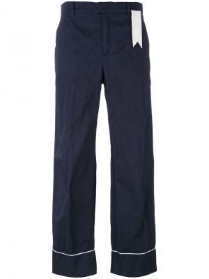 Широкие брюки The Gigi. Цвет: синий