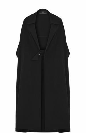Пальто свободного кроя с укороченным рукавом Yohji Yamamoto. Цвет: черный
