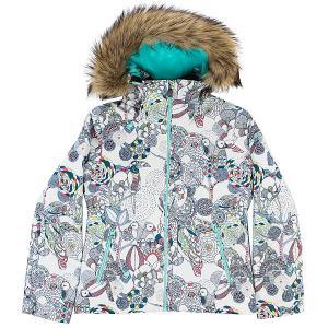 Куртка утепленная детская  Jet Ski Girl G Snjt Bright White_hackney Roxy. Цвет: белый,мультиколор