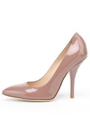 Туфли Bottega Veneta. Цвет: пудра