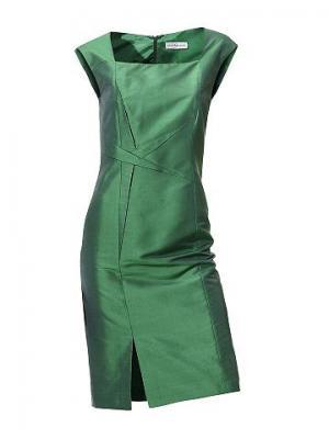 Платье из шёлка SINGH S. MADAN. Цвет: зелёный