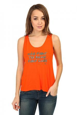 Майка женская  Newtrip T-Shirt Orange CajuBrasil. Цвет: оранжевый