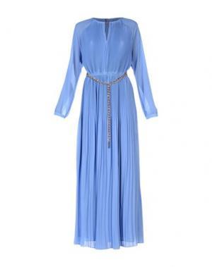 Длинное платье MICHAEL KORS. Цвет: пастельно-синий