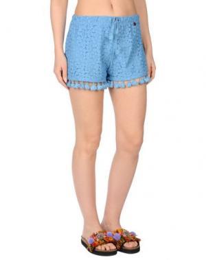 Пляжные брюки и шорты BLUMARINE BEACHWEAR. Цвет: лазурный